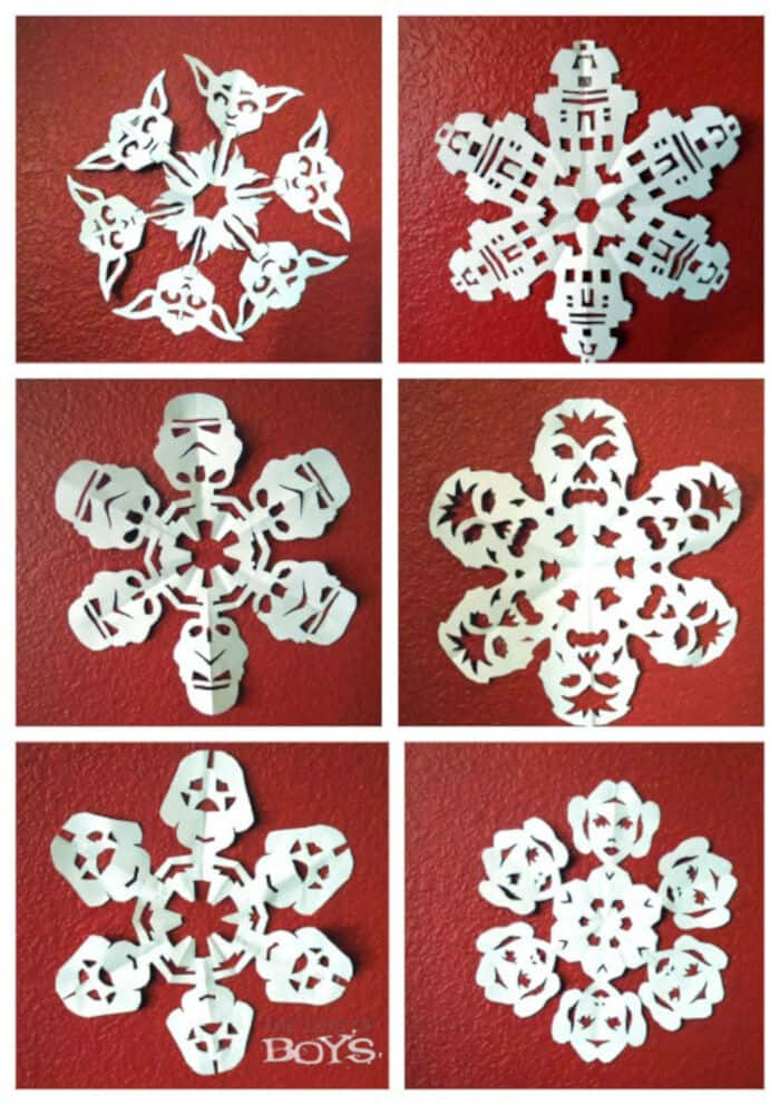 Star Wars Snowflakes by Fun Crafts Kids
