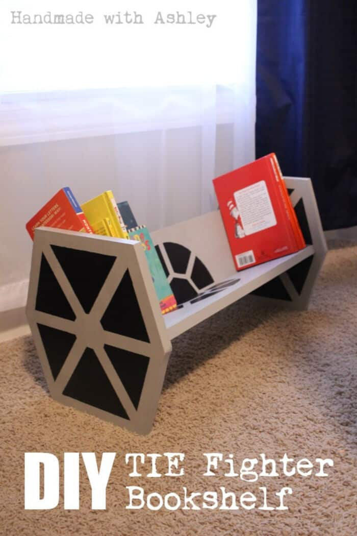 Star Wars TIE Fighter Bookshelf by Handmade with Ashley
