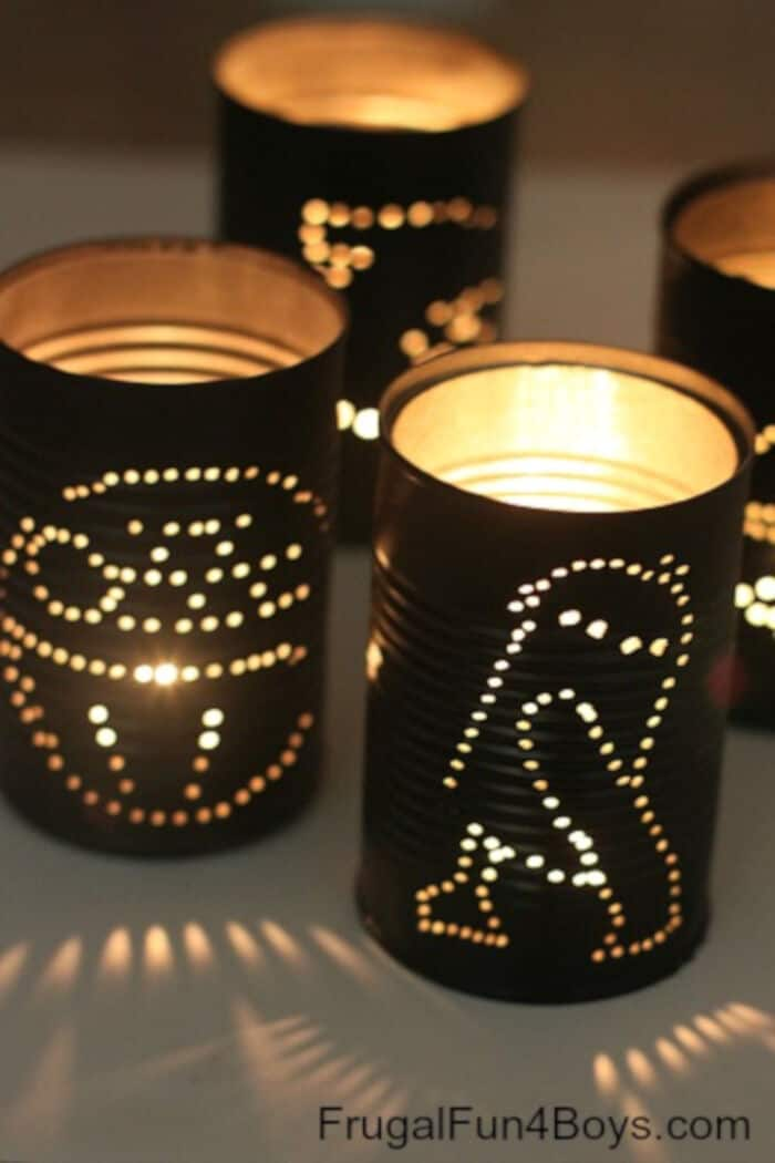 Star Wars Tin Can Lanterns by Frugal Fun For Boys and Girls