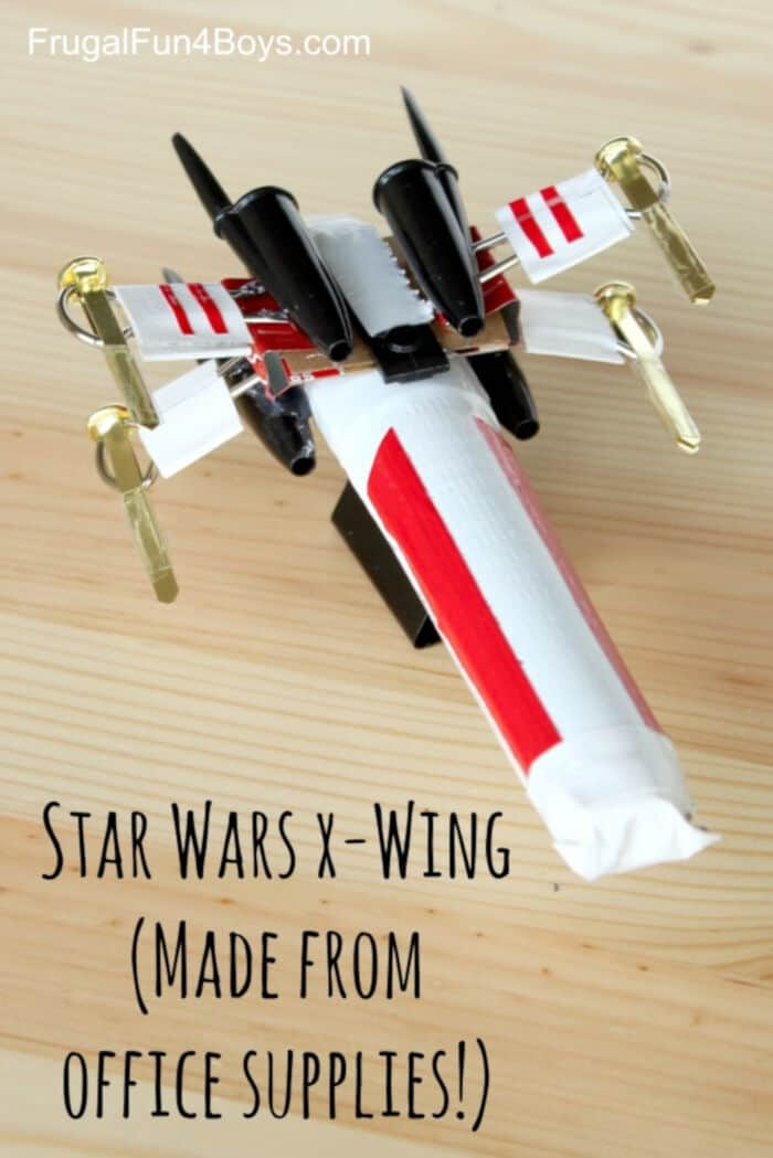 Star Wars X-Wing Starfighter by Frugal Fun For Boys and Girls