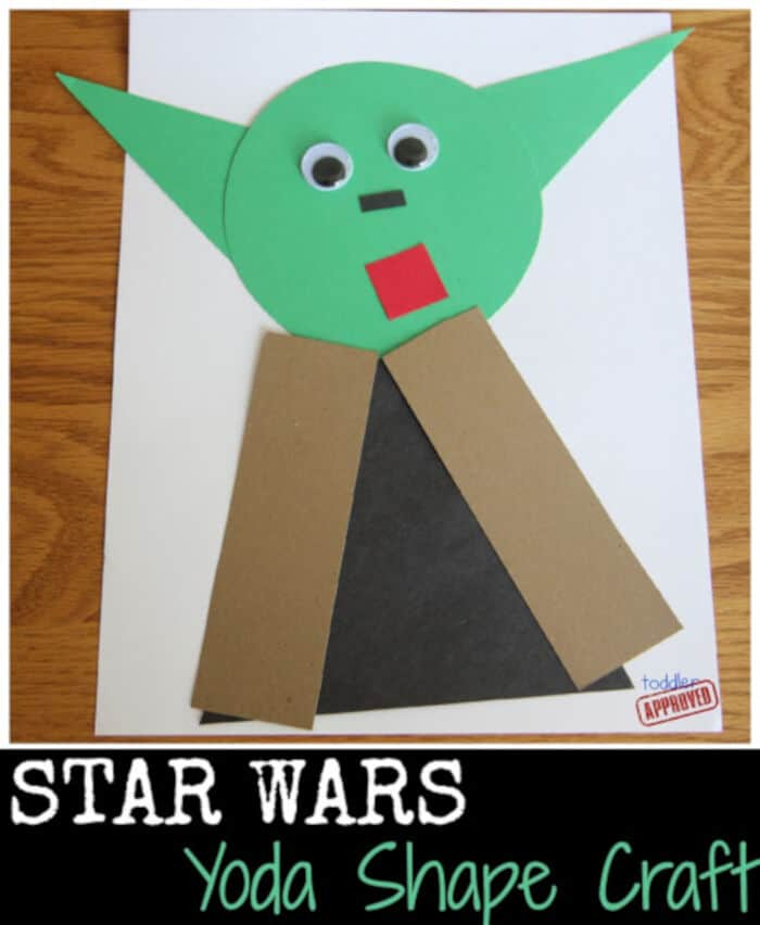 Star Wars Yoda Shape Craft by Toddler Approved