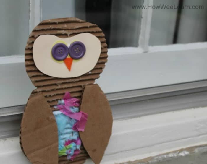 Textured Owl Craft by How Wee Learn