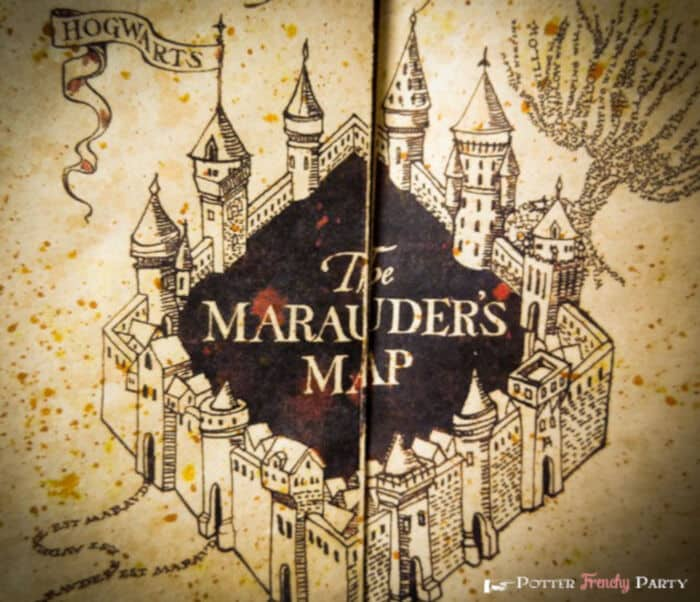 The Marauders Map by Potter Frenchy Party