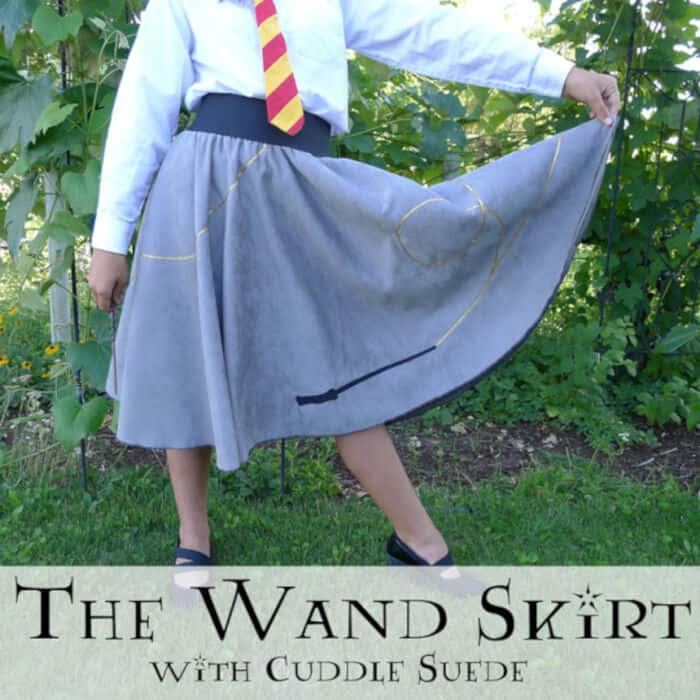 The Wand Skirt with Cuddle Suede by Sewciety