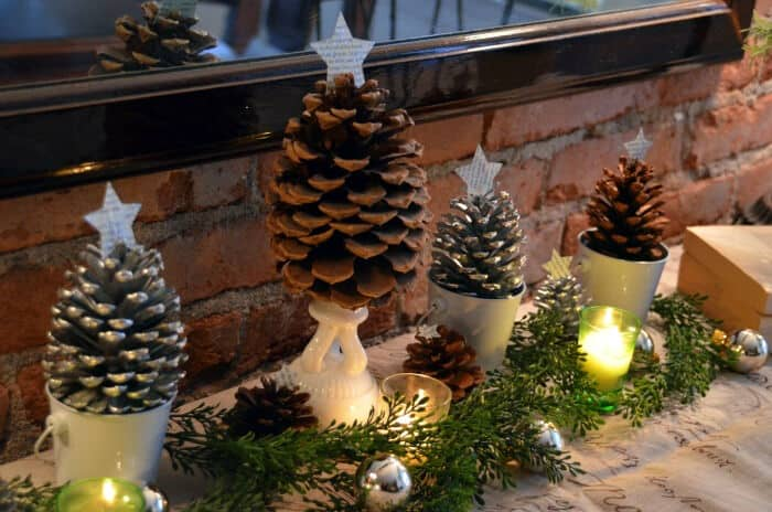 Tree Craft Pine Cones by Home Stories