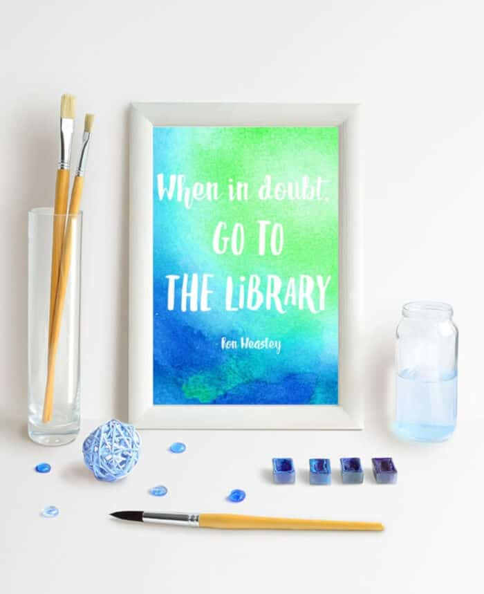Watercolor Resist Harry Potter Quotes by Happiness Is Homemade