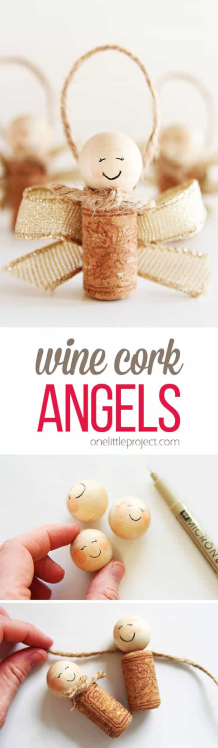 Wine Cork Angels by One Little Project