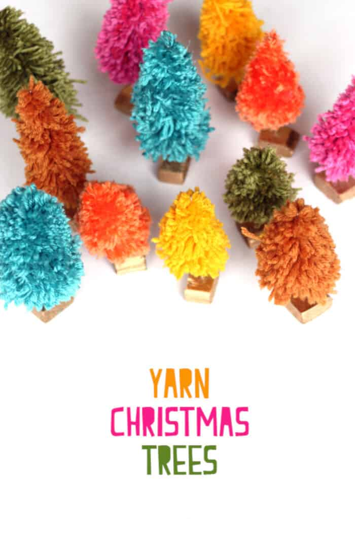 Yarn Christmas Trees by The Sweet Escape