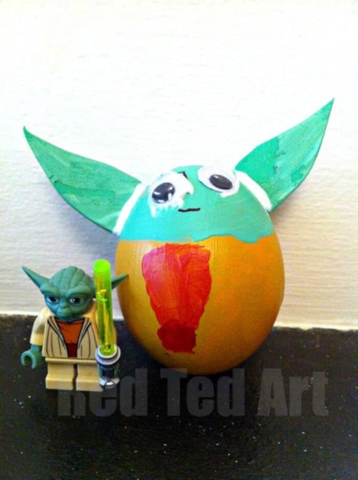 Yoda Easter Egg by Red Ted Art