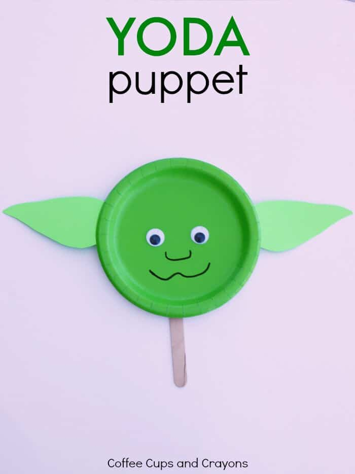 Yoda Puppet Star Wars Craft by Coffee Cups and Crayons