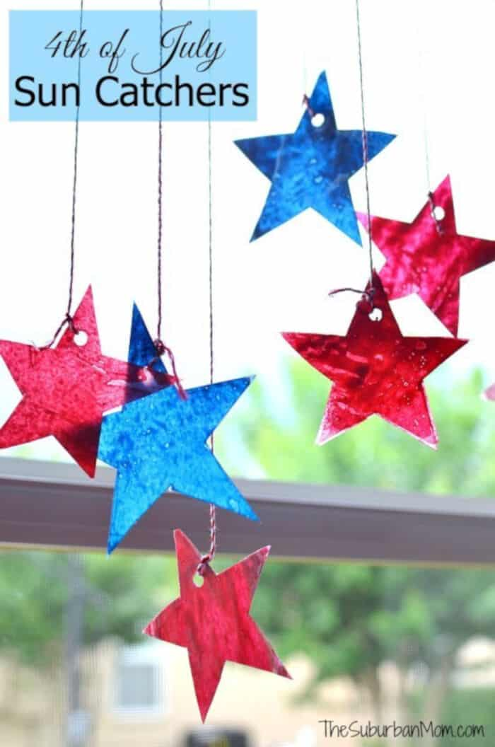 4th of July Star Sun Catchers by The Suburban Mom