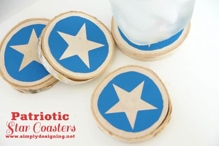 4th of July Wood Coasters by Deco Art