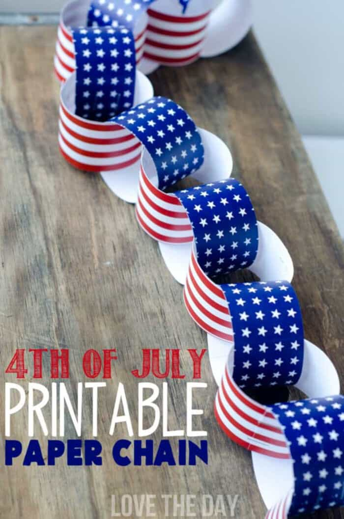A Patriotic Paper Chain by Love The Day
