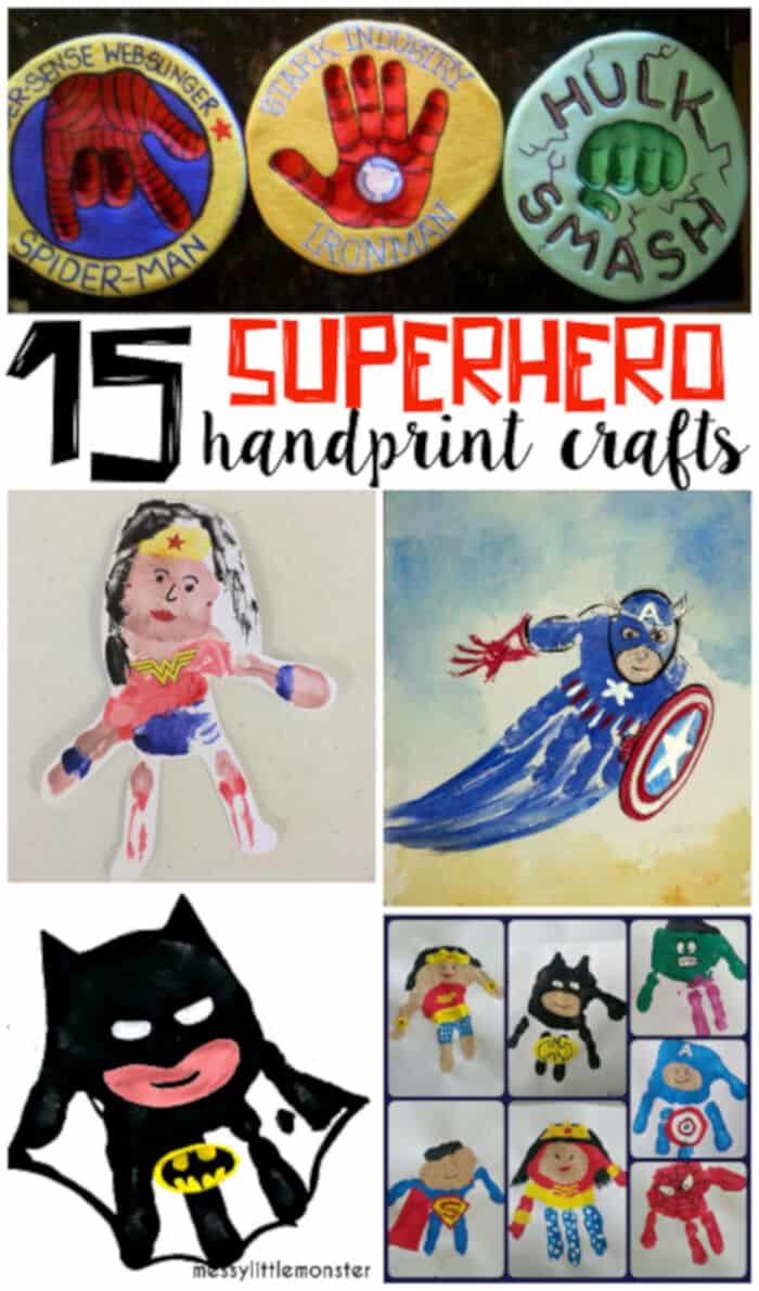 Amazing Superhero Handprint by Crafty Morning