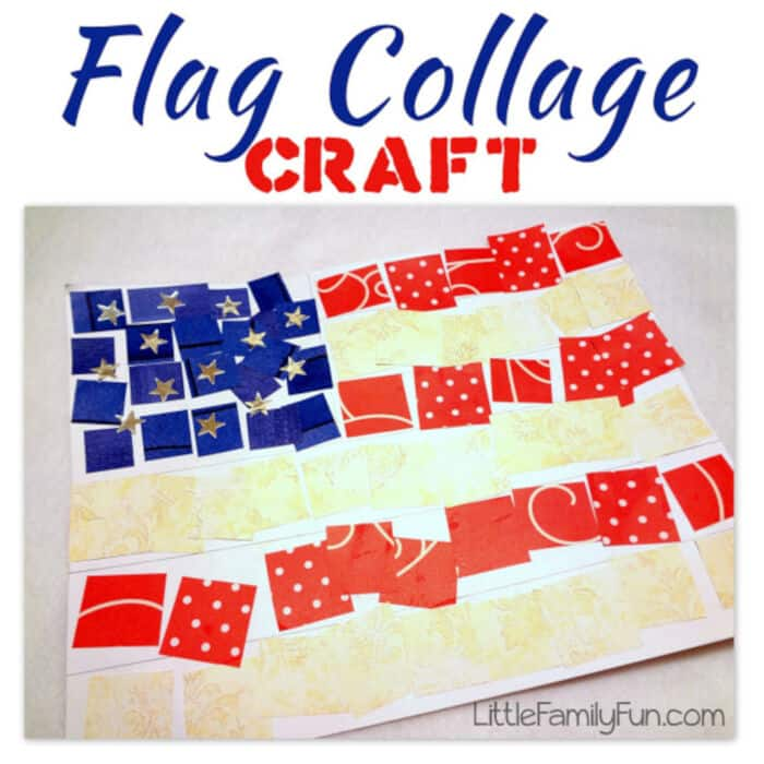 American Flag Collage Craft by Little Family Fun