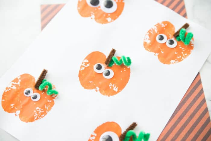 Apple Stamping Pumpkin Craft by Made To Be A Momma