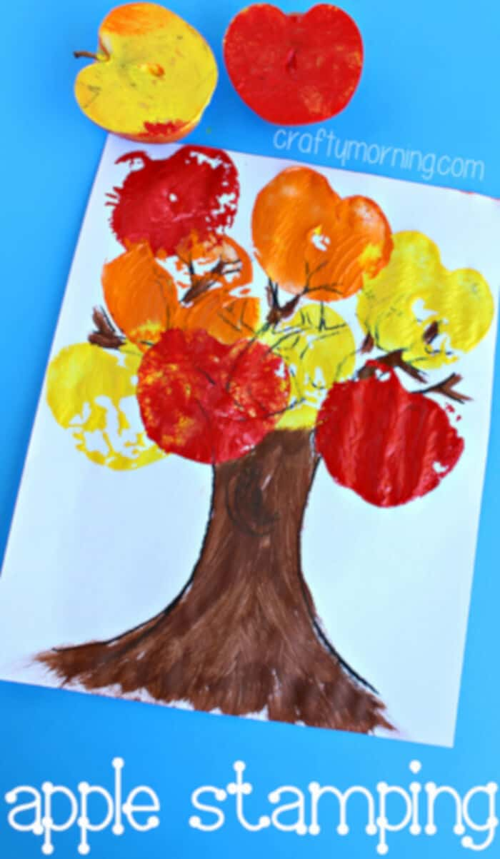 Apple Stamping Tree Craft by Crafty Morning