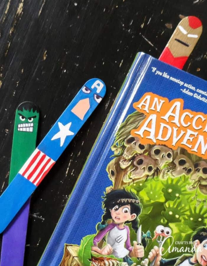 Avengers Bookmarks Craft by Crafts by Amanda