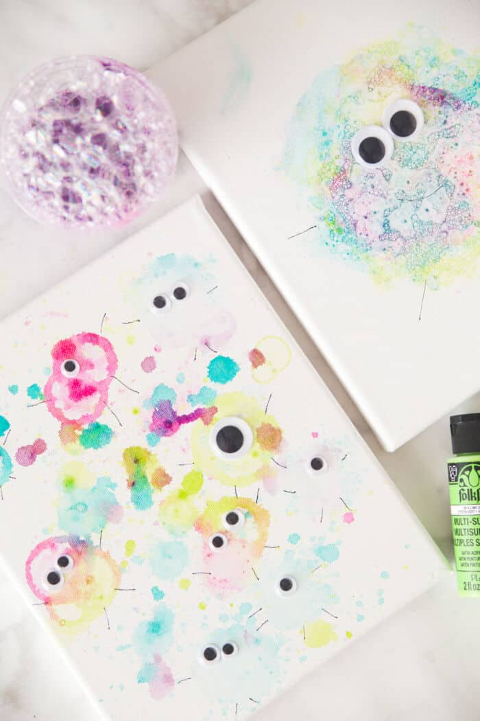 Bubble Paint Monsters by Made To Be A Momma