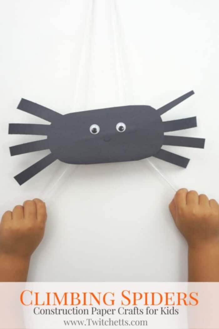 Climbing Construction Paper Spiders by Twitchetts