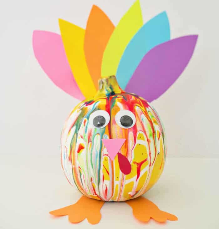 Colorful Squeeze Paint Pumpkin Turkey by Hello, Wonderful