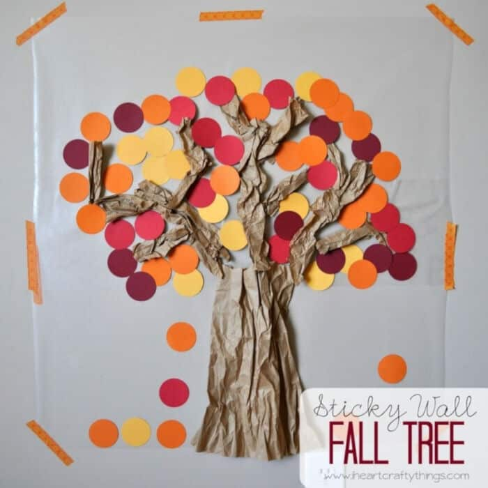 Contact Paper Sticky Wall Fall Tree by I Heart Crafty Things