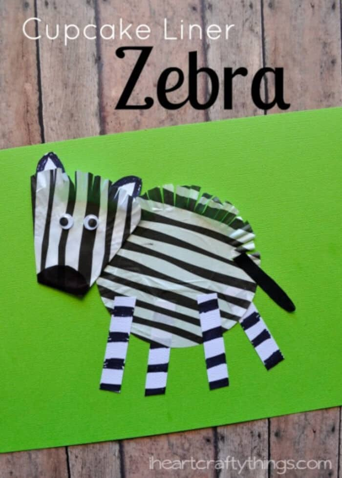 Cupcake-Liner-Zebra-Craft-for-Kids-by-I-Heart-Crafty-Things