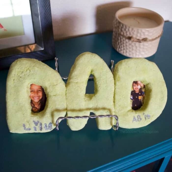 DAD Salt Dough Picture Frame by The Soccer Mom Blog