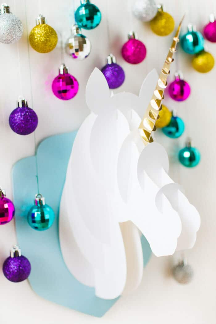 DIY 3D Papercraft Unicorn Head by Bespoke Bride