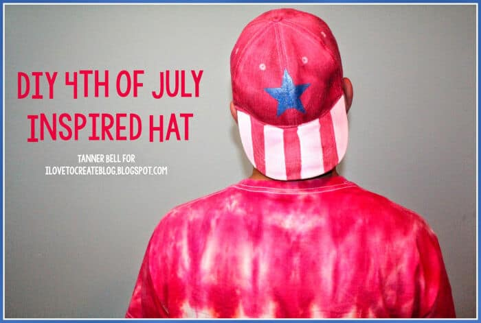 DIY 4th of July Inspired Hat by iLoveToCreate