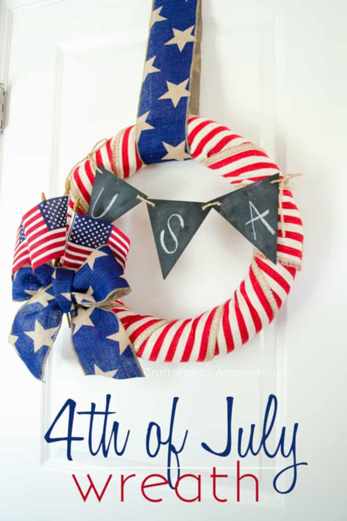 DIY 4th of July Wreath Tutorial by Craftaholics Anonymous