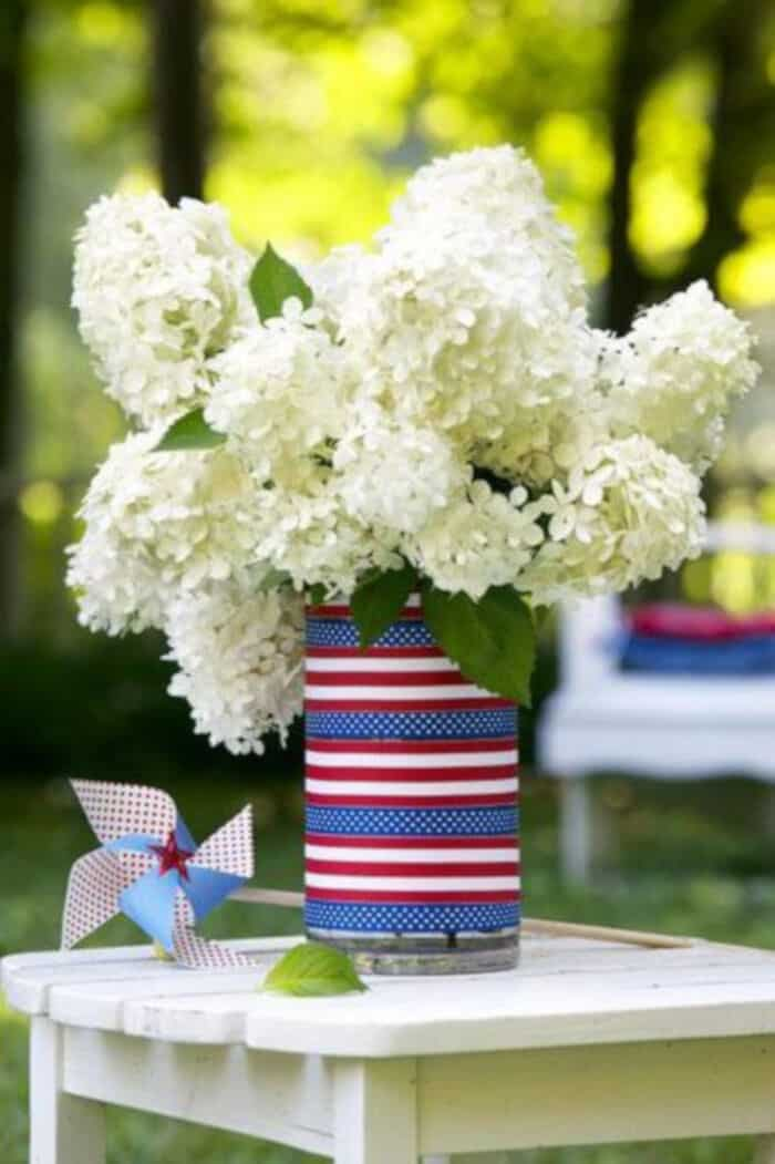 DIY Americana Vase by Good Housekeeping