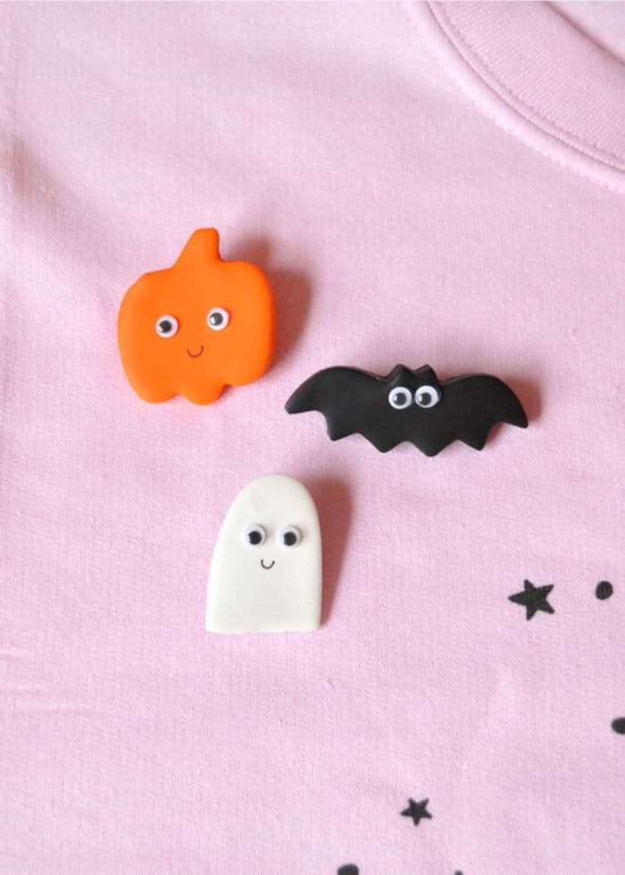 DIY Clay Halloween Pins by Handmade Charlotte