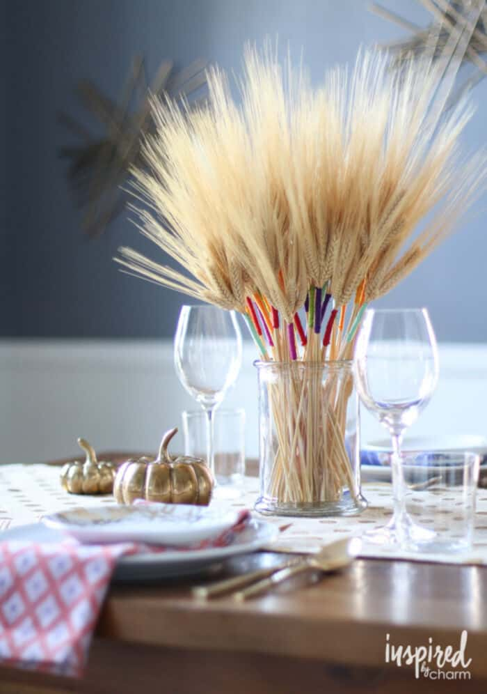 DIY Color Wrapped Wheat by Inspired By Charm