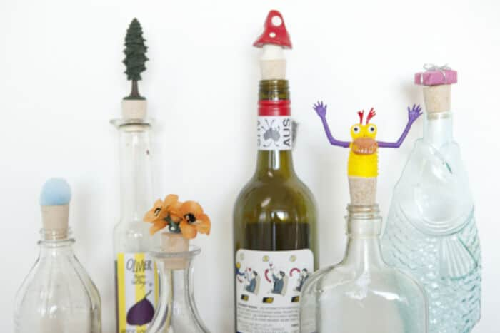 DIY Cork Bottle Stoppers by Mod Cloth