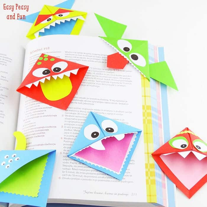 DIY Corner Bookmarks by Easy Peasy and Fun