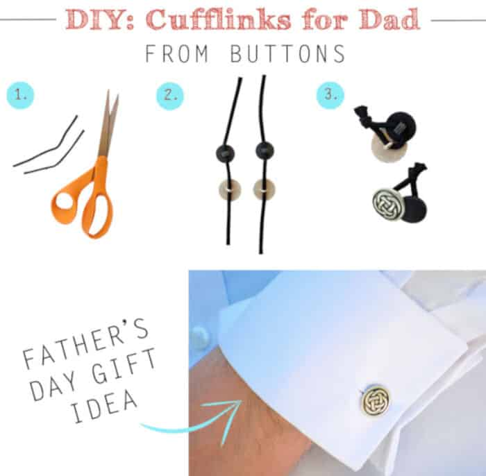 DIY Cufflinks From Buttons by Creme de la Craft