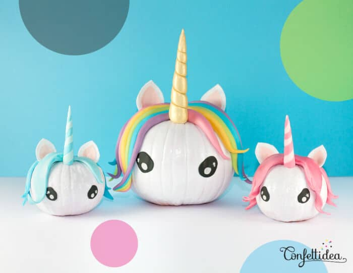 DIY Halloween Unicorn Pumpkins by Confettidea
