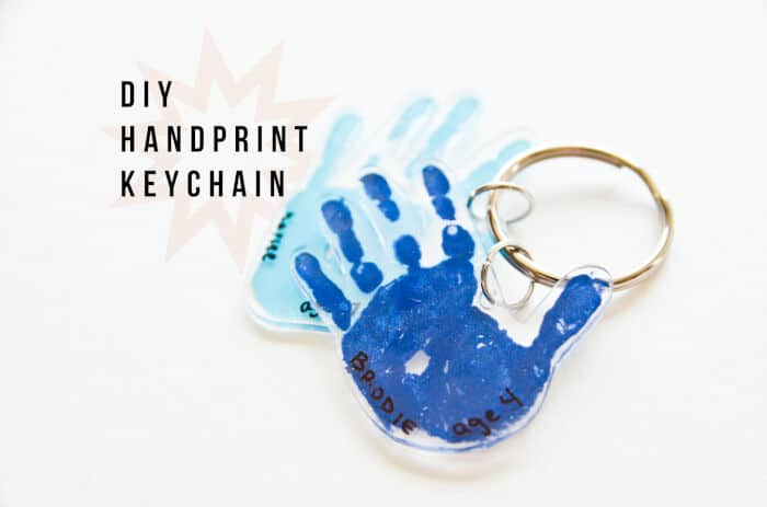 DIY Handprint Keychain by Project Nursery