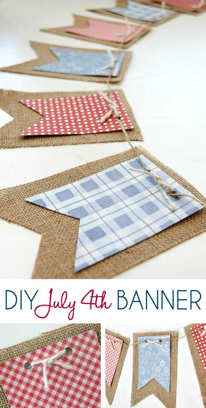 DIY July 4th Banner by Jo-Lynne Shane