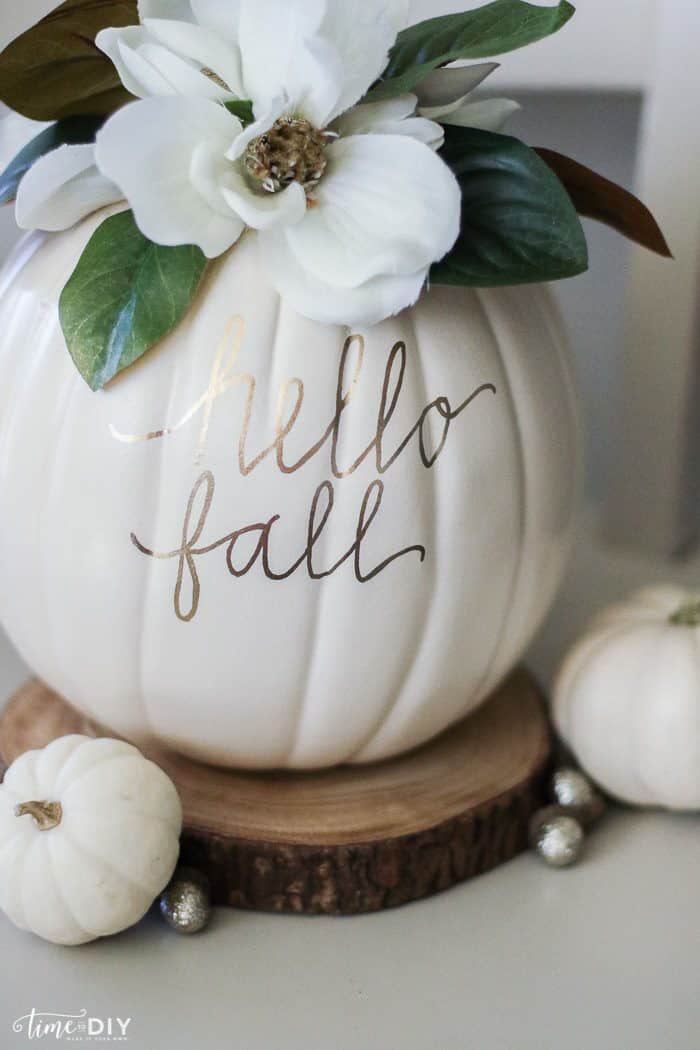 DIY Magnolia Pumpkin by Lolly Jane