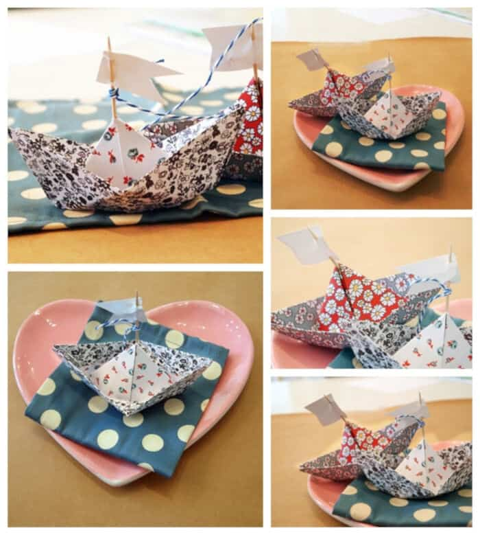 DIY Mini Paper-Sailboat Place Card by My Eastern Shore Wedding