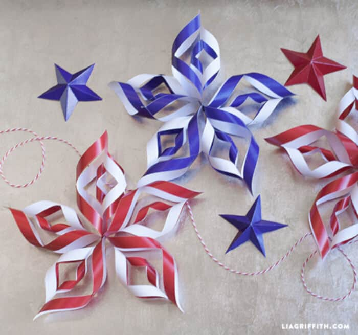 DIY Paper Stars by Lia Griffith