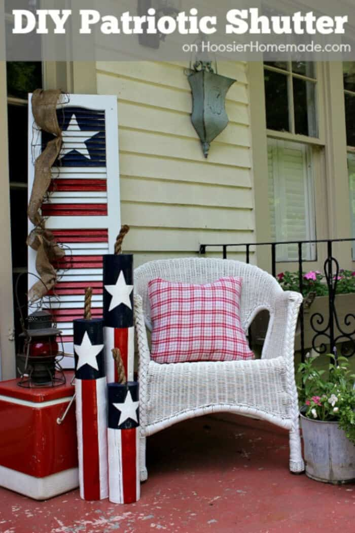 DIY Patriotic Shutter by Hoosier Homemade
