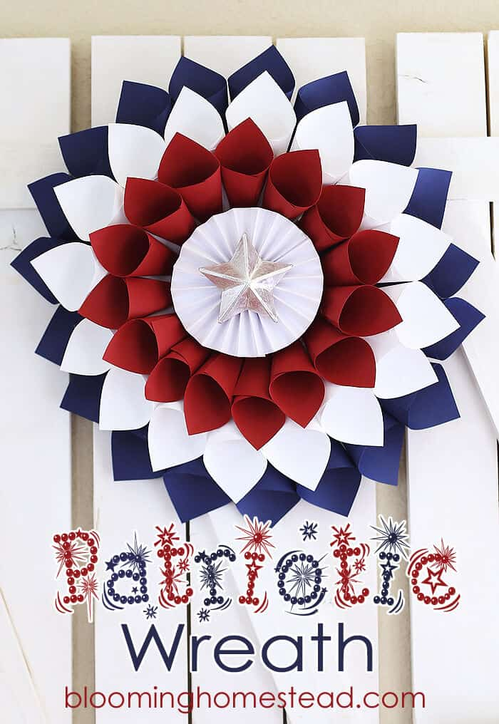 DIY Patriotic Wreath by Blooming Homestead
