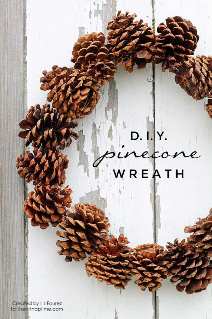 DIY Pinecone Wreath by I Heart Naptime