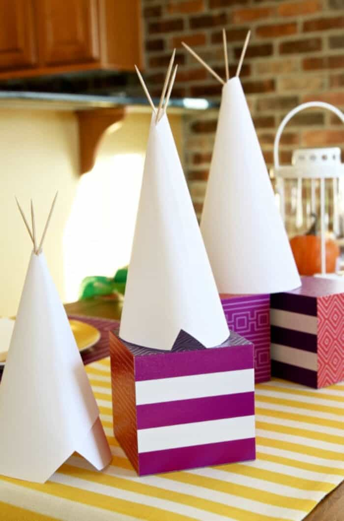 DIY Tepee Kids Craft and Centerpiece by Paging Supermom