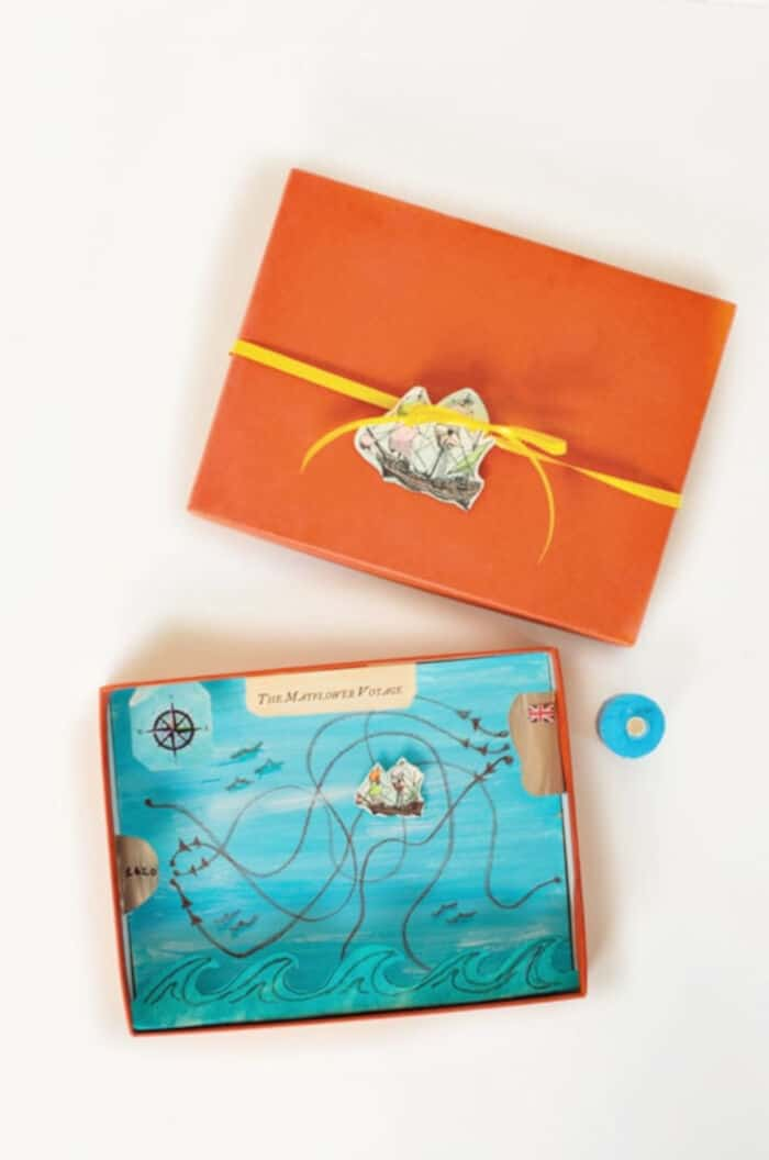 DIY Thanksgiving Mayflower Voyage Magnet Game by Hello, Wonderful