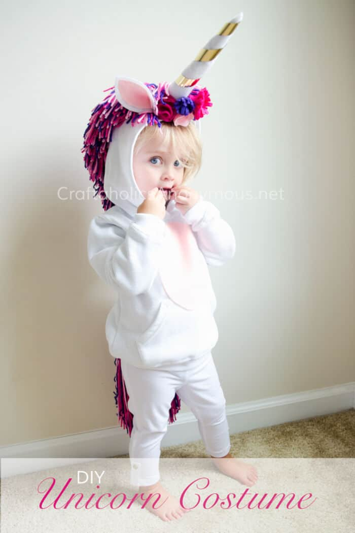 DIY Unicorn Costume by Craftaholics Anonymous