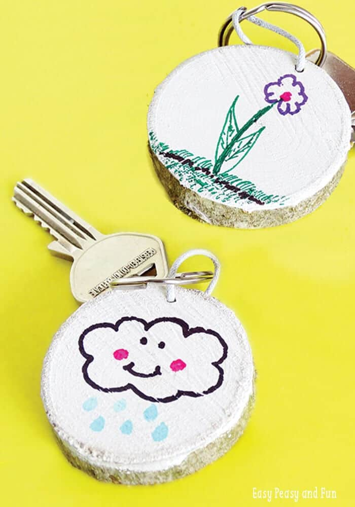 DIY Wooden Key Chain by Easy Peasy and Fun